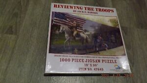 New Sealed Reviewing the Troops by Jack E Dawson 1000 pc Jigsaw Puzzle Suns Out