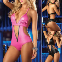 Women's Bodysuits Ladies Party Hollow Out Bodysuits Clubwear Nightclub