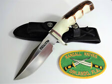"RANDALL KNIFE Model 23 - 4.5"" SS GAMEMASTER FG Stag Handle NS Hilt & NS Butt P"