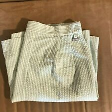 Callaway Nordstrom Women's Golf Seersucker Shorts Green White Striped 10 *Read