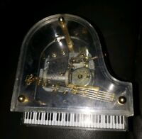 Miniature Clear Baby Grand Piano Music Box Vintage Senkyo Music Player Malaysia