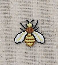 Iron On Embroidered Applique Patch - Yellow/Black Bee Mini Hornet Yellowjacket