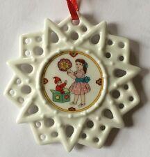 OVP Hutschenreuther Schmuckstern Weihnachtsleckereien Porzellanstern 7,5 cm