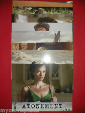 """ATONEMENT 2007 JAMES MCAVOY KEIRA KNIGHTLEY 11"""" x 14"""" LOBBY CARDS SET"""
