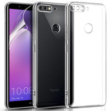 CLEAR SLIM SILICONE GEL PHONE CASE COVER & SCREEN PROTECTOR FOR VARIOUS MOBILES