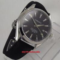 41mm corgeut black dial luminous sapphire glass miyota Automatic mens Watch C134