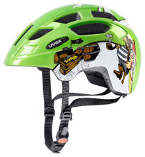 Uvex Fahrradhelm Kinderhelm Finale Junior LED green pirate 47-52 cm