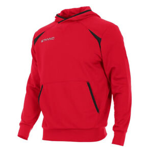 NEW Stanno Centro Cotton Hooded Top - Cheap Sports hoodie (Red) Small adult
