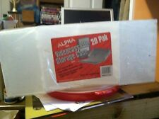 ALPHA Videocassette Storage Cases For VHS or BETA Clear Plastic ( lots of 20)