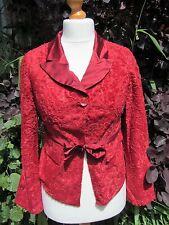 Karen Millen Vintage Beautiful Ladies Vibrant Red Jacket Size S
