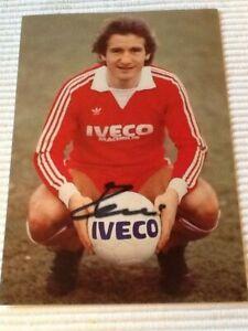 AK Wolfgang Dremmler  Bayern München Iveco Magirus Autogrammkarte