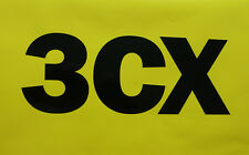 "2x Older Style JCB ""3CX"" Vinyl Logo Decals Stickers"