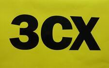 """2x Older Style JCB """"3CX"""" Vinyl Logo Decals Stickers"""