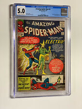 Amazing Spider-man 9 cgc 5.0 ow/w pages marvel 1964 1st electro