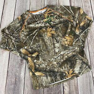 Mens Realtree EDGE Size Medium Long Sleeve Camo T-Shirt Outdoors Hunting