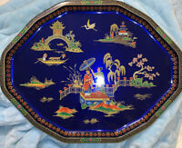 Vtg Daher Decorated Ware Serving Tray Chinese Asian Japanese Tray 1971