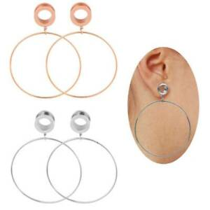 """Vintage Style Brass Clip Expander Gauges Stretcher Body Piercing Jewelry 2g-5//8/"""" WBRWP 2pcs Stainless Steel Ear Plugs Tunnels"""
