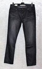 Stonewashed Damen-Jeans aus Denim mit Glanz-Effekt