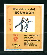 Équateur 1984 #1057A Olympiques Figure Skating Imperf Feuille MNH F015