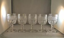 WESTMORELAND GLASS WAKEFIELD GLASS CRYSTAL GOBLETS SET OF 5