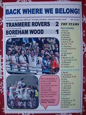 Tranmere 2 Boreham Wood 1 - 2018 National League play-off final - souvenir print