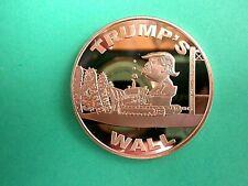 TRUMP'S  ' WALL'   1 oz. Copper Round