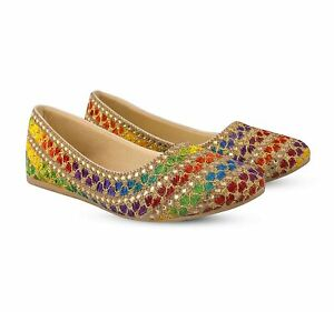 Indian Traditional Party Jutti Casual Shoes Ethnic Jaipuri Women's Belly