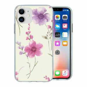 For Apple iPhone 11 Silicone Case Flower Floral Pattern - S5255