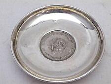 Vintage Solid Sterling Silver Elizabeth & Philips Silver Wedding Dish (943-A-ONY