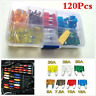 120pcs Standard Car Fuse Set 5/7.5/10/15/20/25/30Amp Vehicle/Blade/Wedge/Spade
