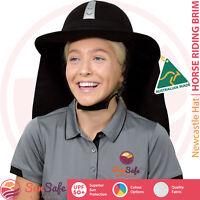 Horse Riding Helmet Brim Equestrian Sewn On Flap Australian Made Newcastle Hats