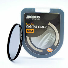 JACOBS ND4 SUPER SOTTILE Neutral Density Filter 77mm per Nikon Canon Sony Nuovi PRO