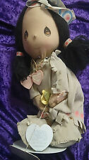 """PRECIOUS MOMENTS LAST FOREVER by APPLAUSE Indian Girl Doll 14"""" Wannie #4583 1985"""