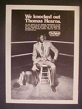 1980 Hit Man Thomas Hearns Boxer Boxing Champ Van Dyke's Style Fashion Photo AD