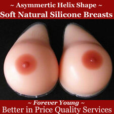 Helix Silicone Breasts for Flat Chest Natural Soft Fake Boob Pale Skin TV TG UK