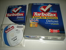 Turbotax 2005 Deluxe (and state) with Turbotax 2004 Basic and 2003 Basic. New.