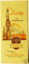 1931 Guide to Ketchikan Alaska Flyer Pruell's Gift Shop brochure