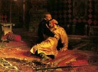 Art Oil REPIN ILIYA EFIMOVICH - Ivan the Terrible and His Son Ivan on November