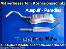 Abgasanlage Auspuff  VW Golf IV (1J1) 2.0i 115PS / 85 KW Fließheck + Anbaukit