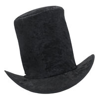 #Top Hat Velvet Black Fancy Dress Adult