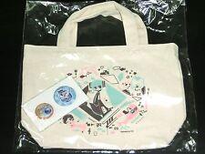 Vocaloid Hatsune Miku Happy kuji Tote Bag with 2 Can Badge Japan anime #2