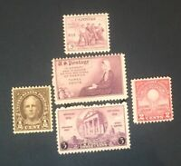 Five MNH Vintage and Different Pre 1941 Stamps...lot 4