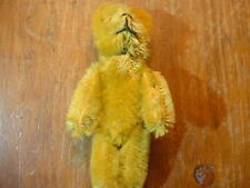 """New ListingAntique Miniature 3 1/2"""" Yellow Mohair Jointed Teddy Bear"""