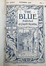 More details for the blue. published at christs hospital october 1908- 1910 (  leather bound )