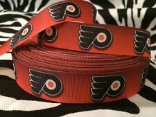"1 Yard 7/8"" Philadelphia Flyers Grosgrain Ribbon"