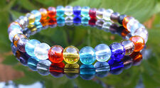 Crystal Glass Rainbow Bracelet Multi Colour Jewellery