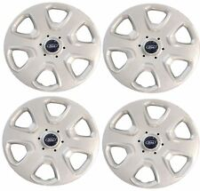 "4 x OEM New Genuine Ford KA Fiesta Focus 14"" Wheel SilverTrims Covers / Hub Caps"