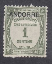 Andorra 1931 Postage Due - 1c Green - SG FD32 - Mint Hinged (D51G)