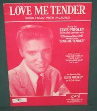 Elvis Presley RCA Love Me Tender Song Book Folio & Pictures 1956