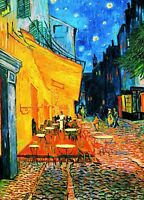Famous Cafe Painting - Colourful Street Wall Art Framed Canvas Pictures